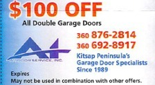 $100 off Garage Door Coupon